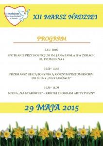 XII Marsz Nadziei Program