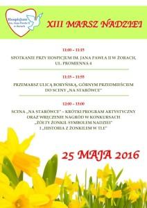 13 Marsz Nadziei - plakat