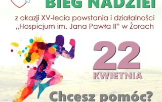 plakat bieg nadziei 22 kwietnia