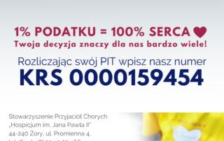 Przyjdż do hospicjum. Pomożemy Ci rozliczyć Twój PIT.