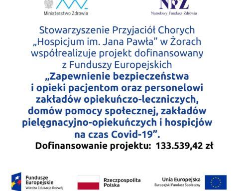 Współrealizujemy projekt z Funduszy Europejskich